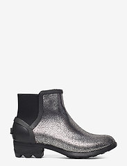 Sorel - JANEY CHELSEA- Metallic - bottes de pluie - black, pure silver - 1