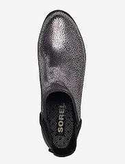 Sorel - JANEY CHELSEA- Metallic - bottes de pluie - black, pure silver - 3