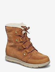 Sorel - SOREL™ EXPLORER JOAN - flat ankle boots - camel brown, ancient fossil - 0
