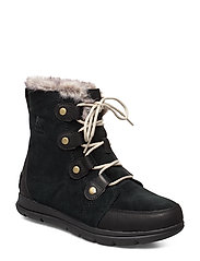 SOREL EXPLORER JOAN - BLACK, DARK STONE