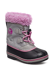 Childrens Yoot Pac Nylon - CHROME GREY, ORCHID