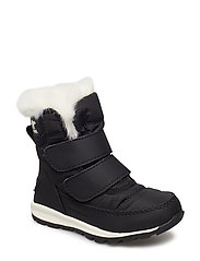 Children's Whitney Velcro - BLACK, SEA SALT