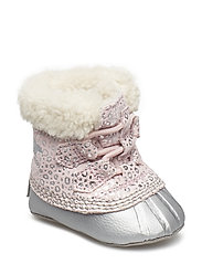 Caribootie - DUSTY PINK, CHROME GREY