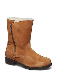 Youth Emelie Fold-Over - CAMEL, NATURAL BROWN