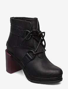 MARGO LACE-UP BOOTIE - BLACK