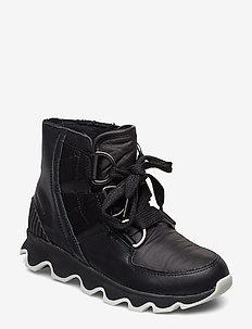 Kinetic Short Lace - flade ankelstøvler - black, white