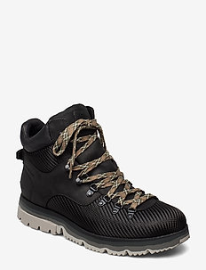 ATLIS AXE WP - laced boots - black, coal