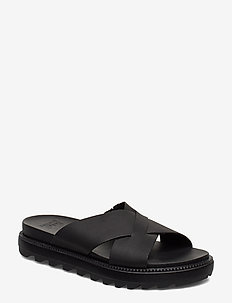 ROAMING™ CRISS CROSS SLIDE - pool sliders - black