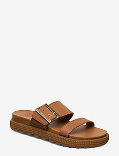 ROAMING™ BUCKLE SLIDE - camel brown