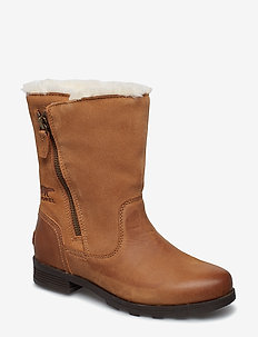 EMELIE FOLDOVER - flat ankle boots - camel, brown