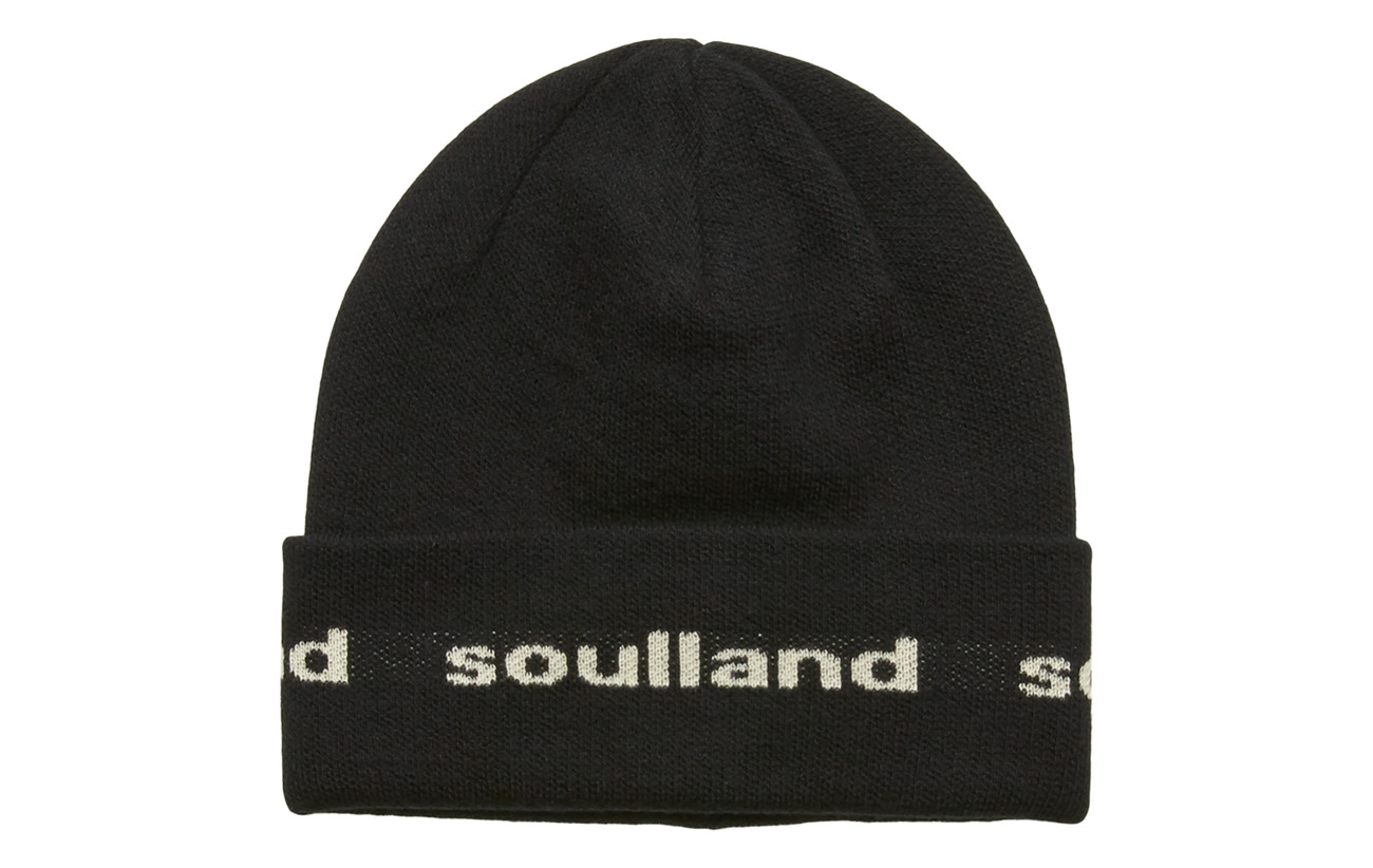 Soulland YOUNGBANG RECYCLE BEANIE - BLACK