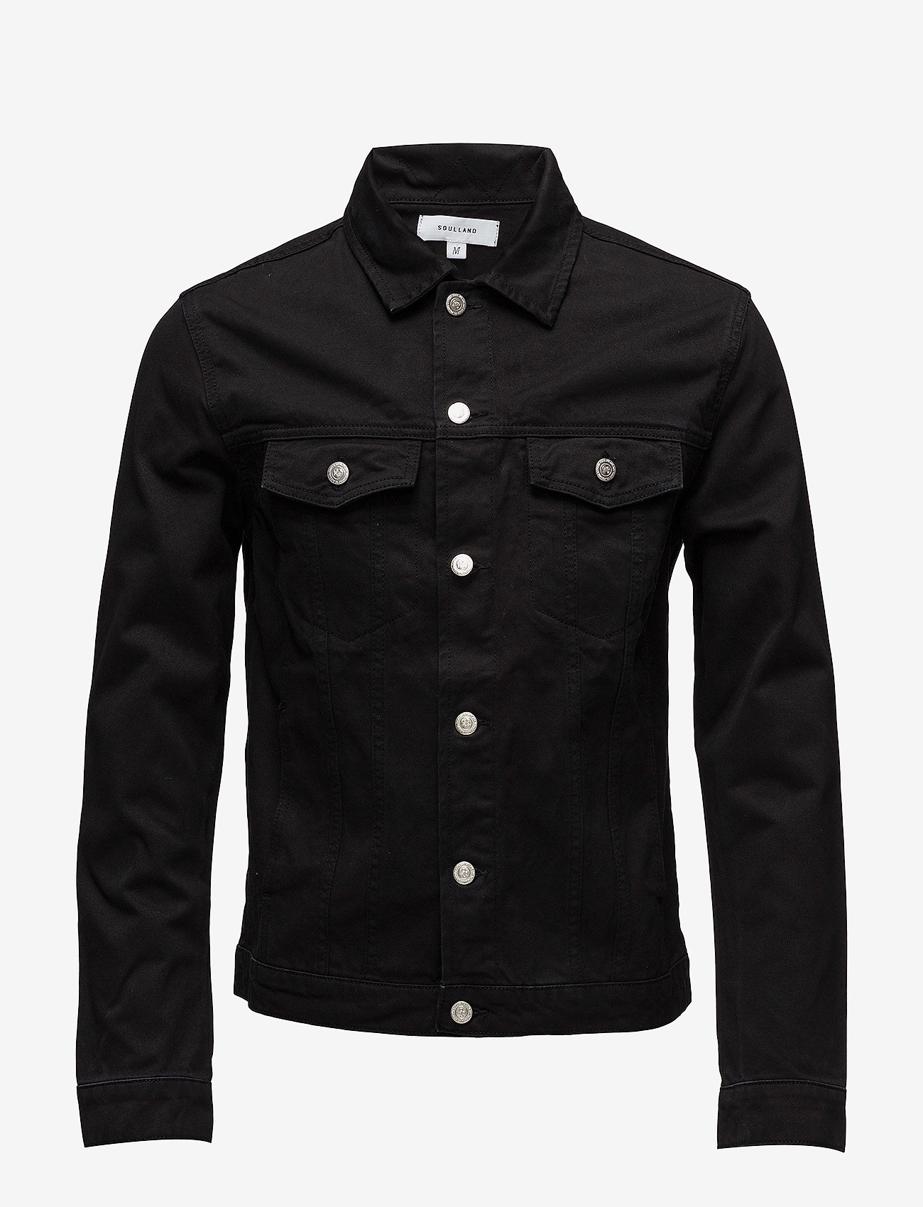 Soulland - SHELTON  DENIM JACKET - kurtki dżinsowe - black - 0