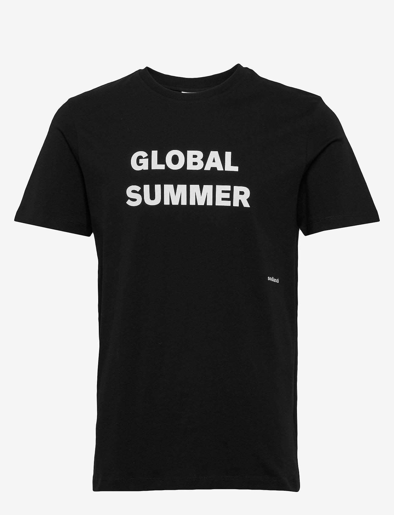 Soulland - LOGIC DRUX T-SHIRT W.PRINT - t-shirts - black