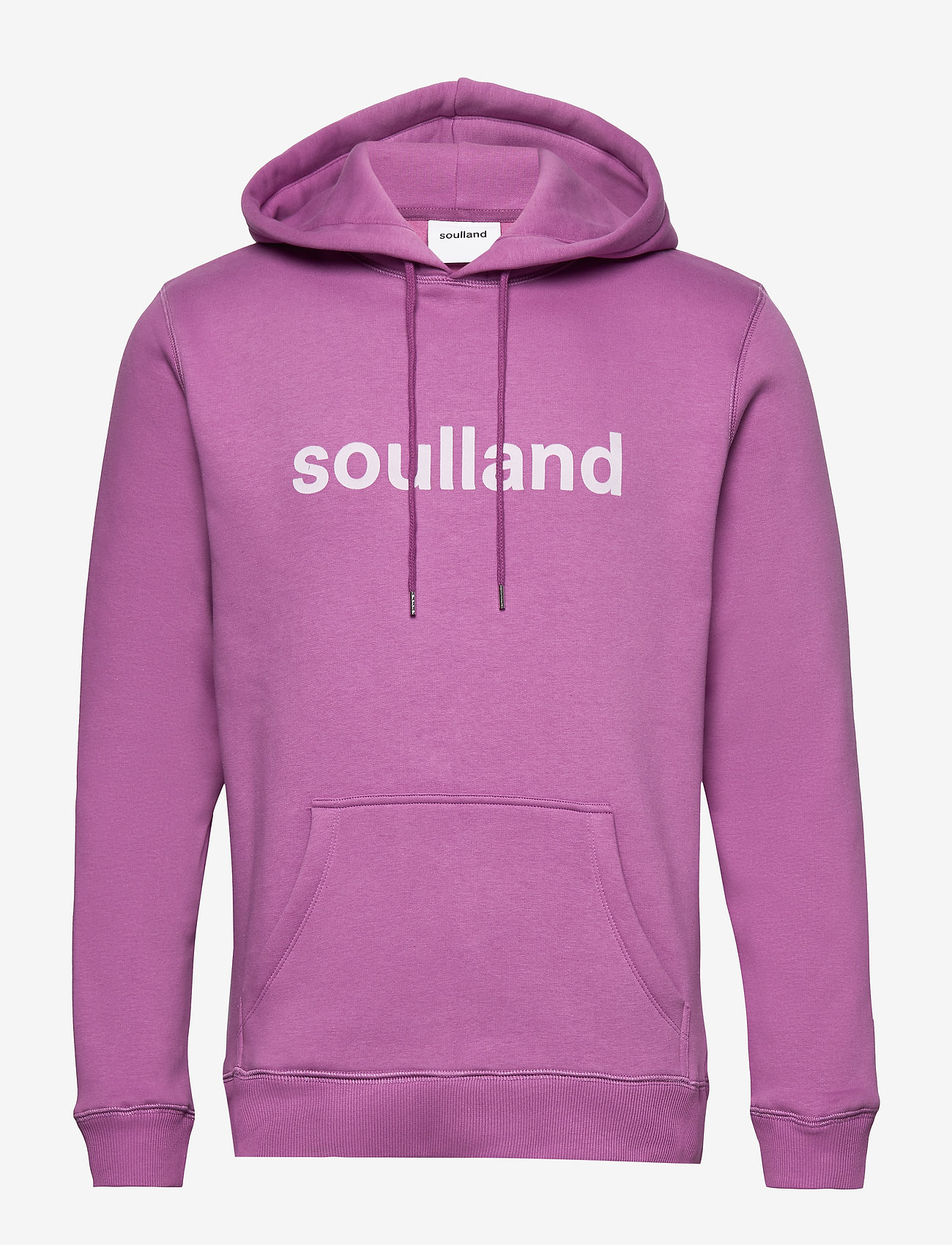 Soulland - LOGIC GOOGIE  HOODED SWEAT W. FRONT FLOCK PRINT - pulls a capuche - purple - 0