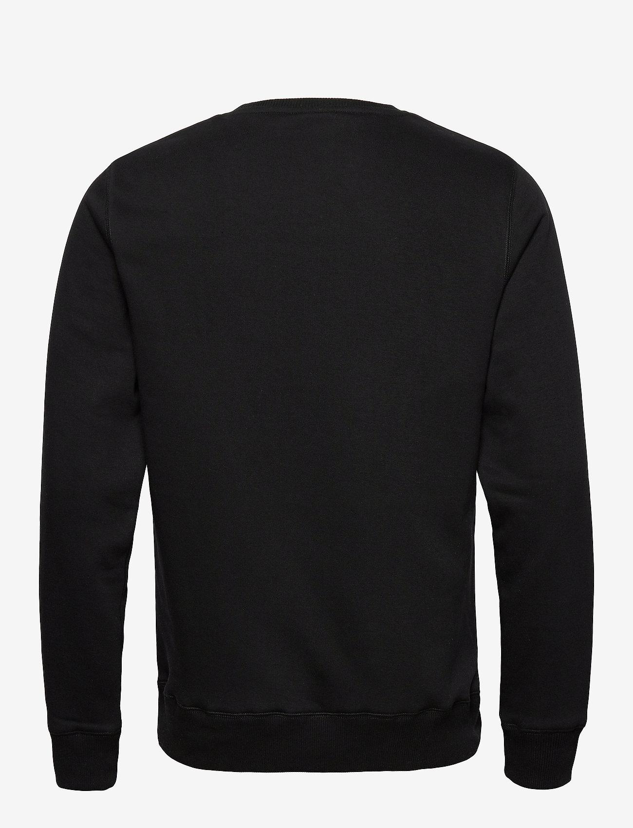 Soulland - LOGIC WILLIE SWEAT W. FRONT FLOCK PRINT - sweatshirts - black - 1