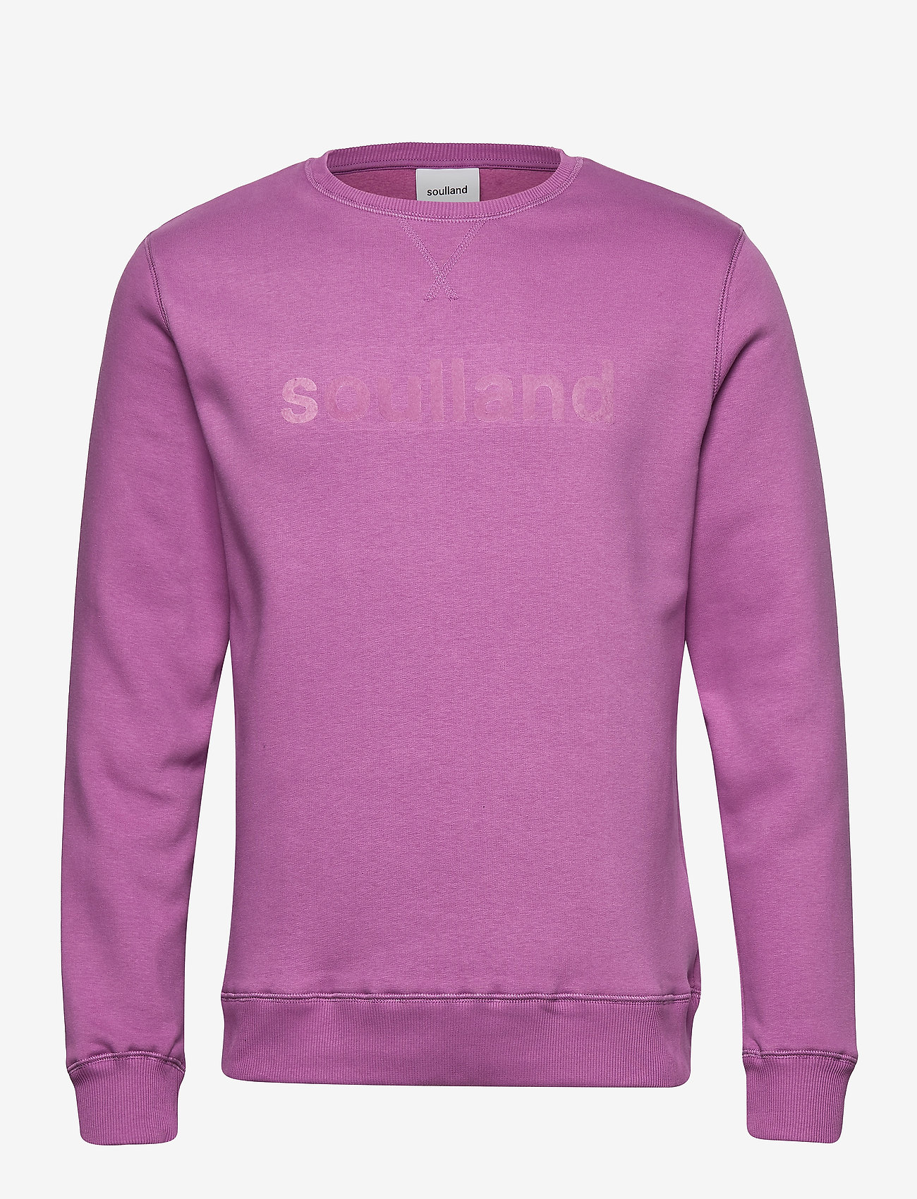 Soulland - LOGIC WILLIE SWEAT W. FRONT FLOCK PRINT - sweatshirts - purple
