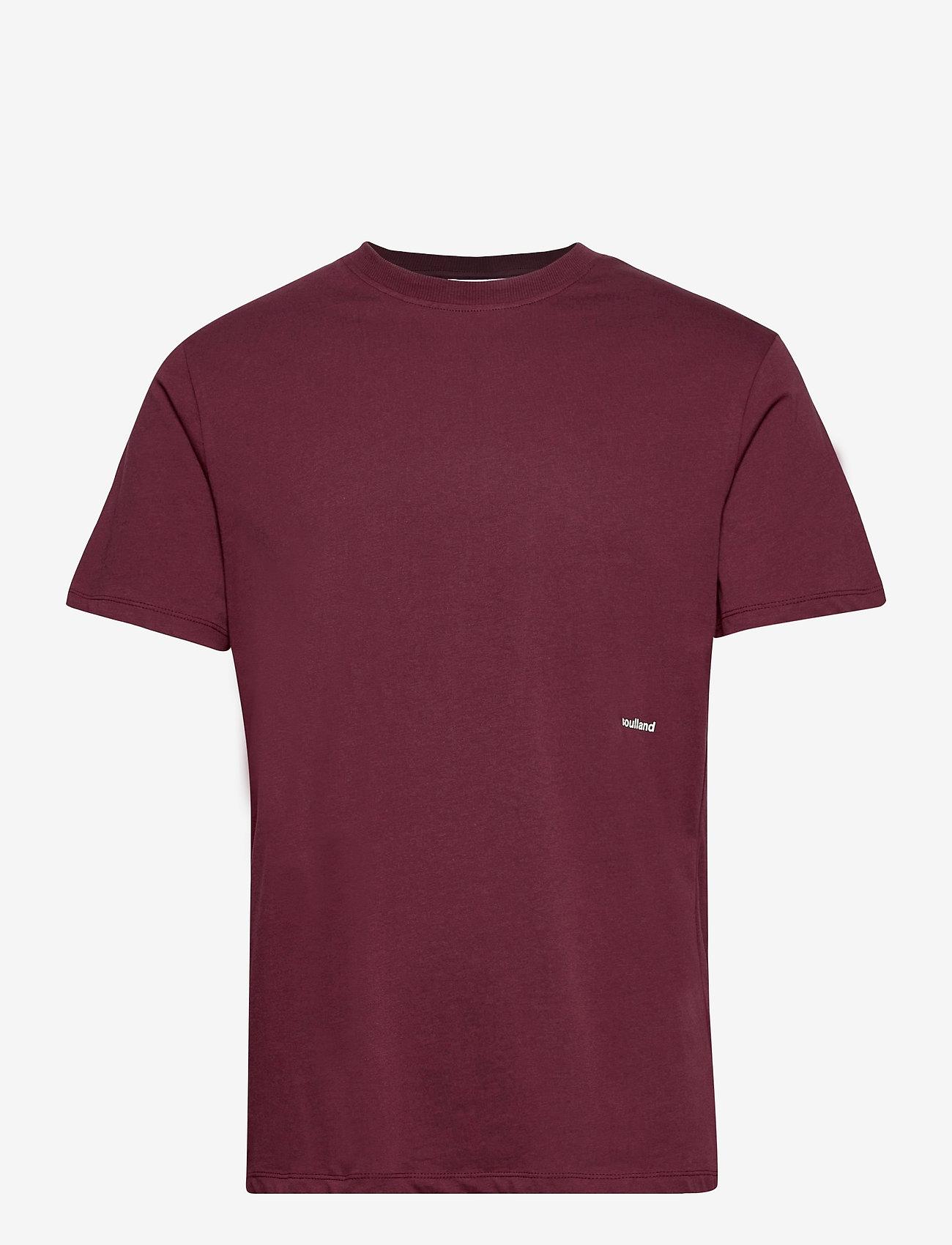 Soulland - Coffey T-shirt - t-shirts basiques - burgundy - 1