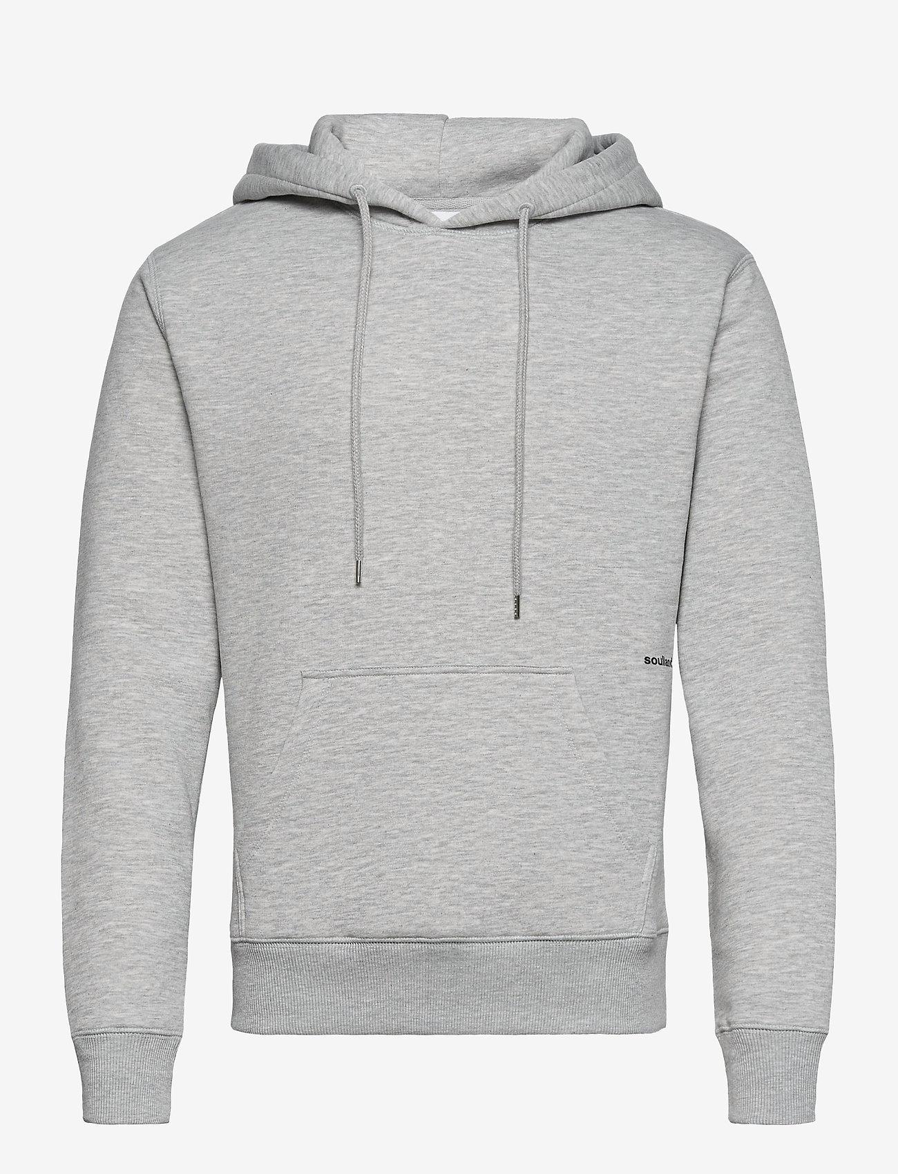 Soulland - Wilme hoodie - sweatshirts & hættetrøjer - grey melange - 0