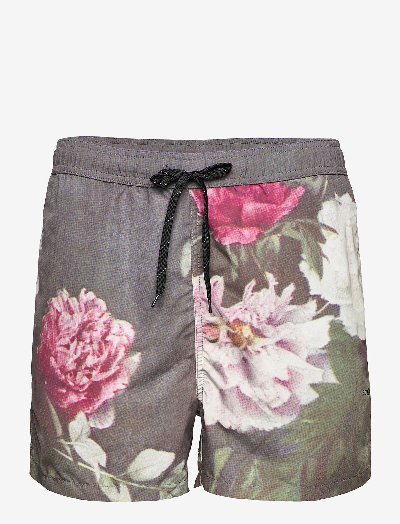 Soulland - William shorts - casual shorts - green aop - 1