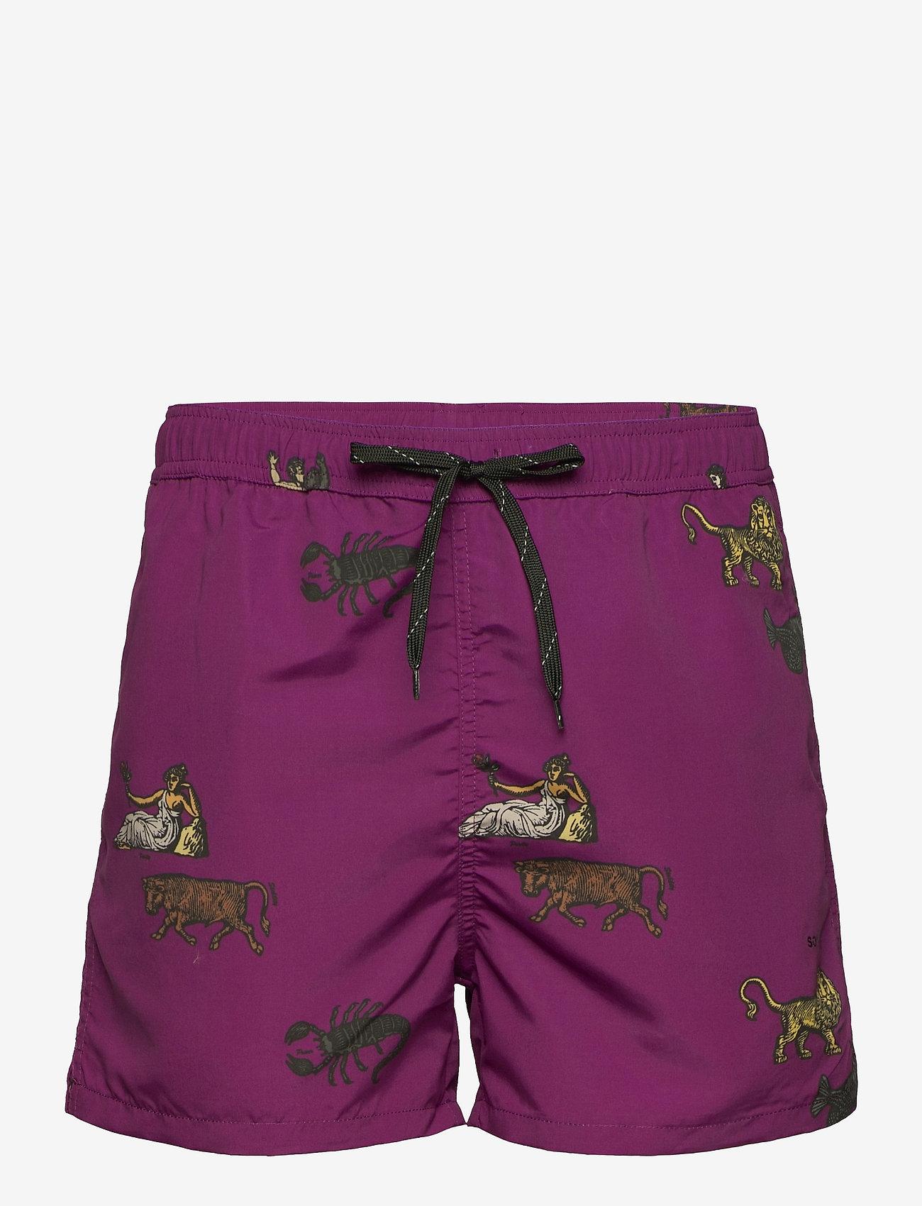 Soulland - William shorts - short décontracté - purple aop - 1
