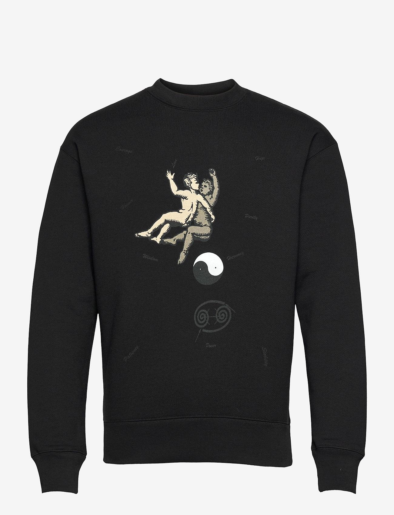 Soulland - Zodiac sweatshirt - sweats - black - 1