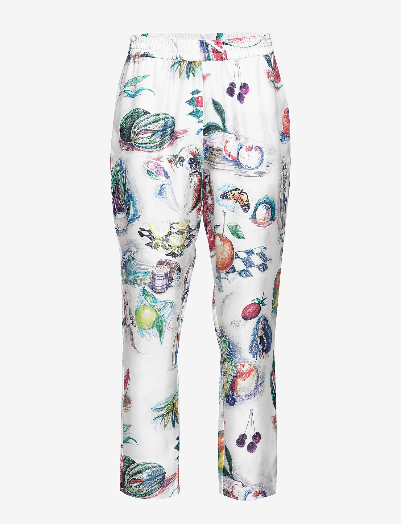 Soulland - TOAST SILK PANTS W. ALLOVER PRINT - pantalons droits - multi
