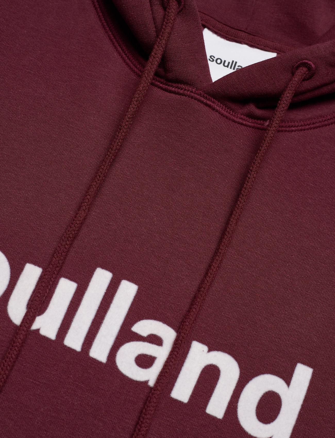 Soulland - Googie hoodie - hoodies - burgundy - 4