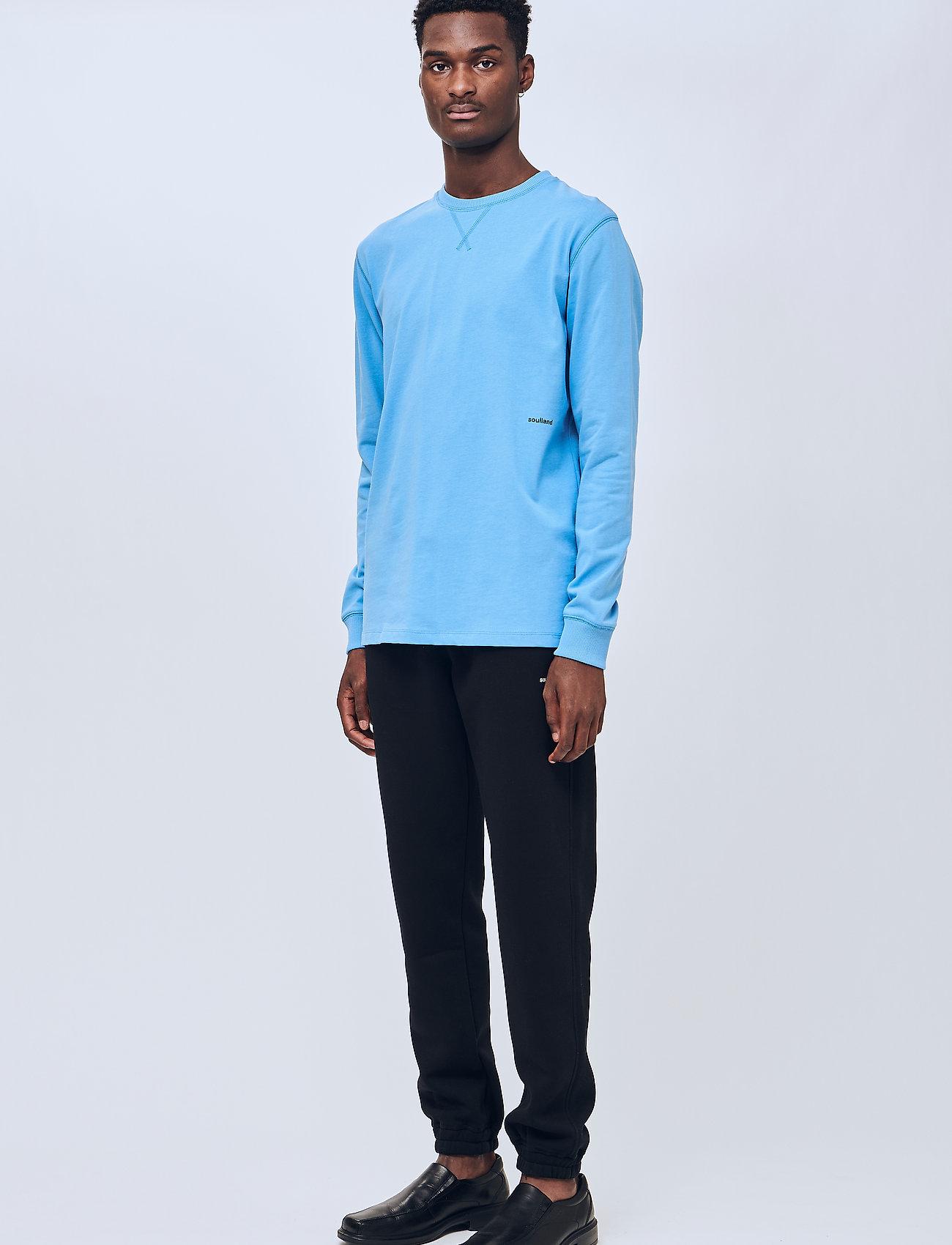 Soulland - Noah long sleeve T-shirt - t-shirts basiques - light blue - 0