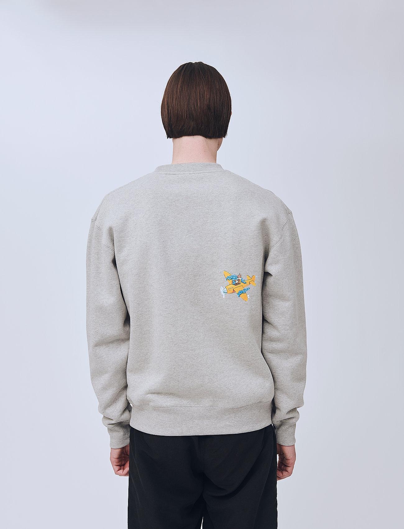 Scraps Sweatshirt (Grey Melange) (111 €) - Soulland MxOjT