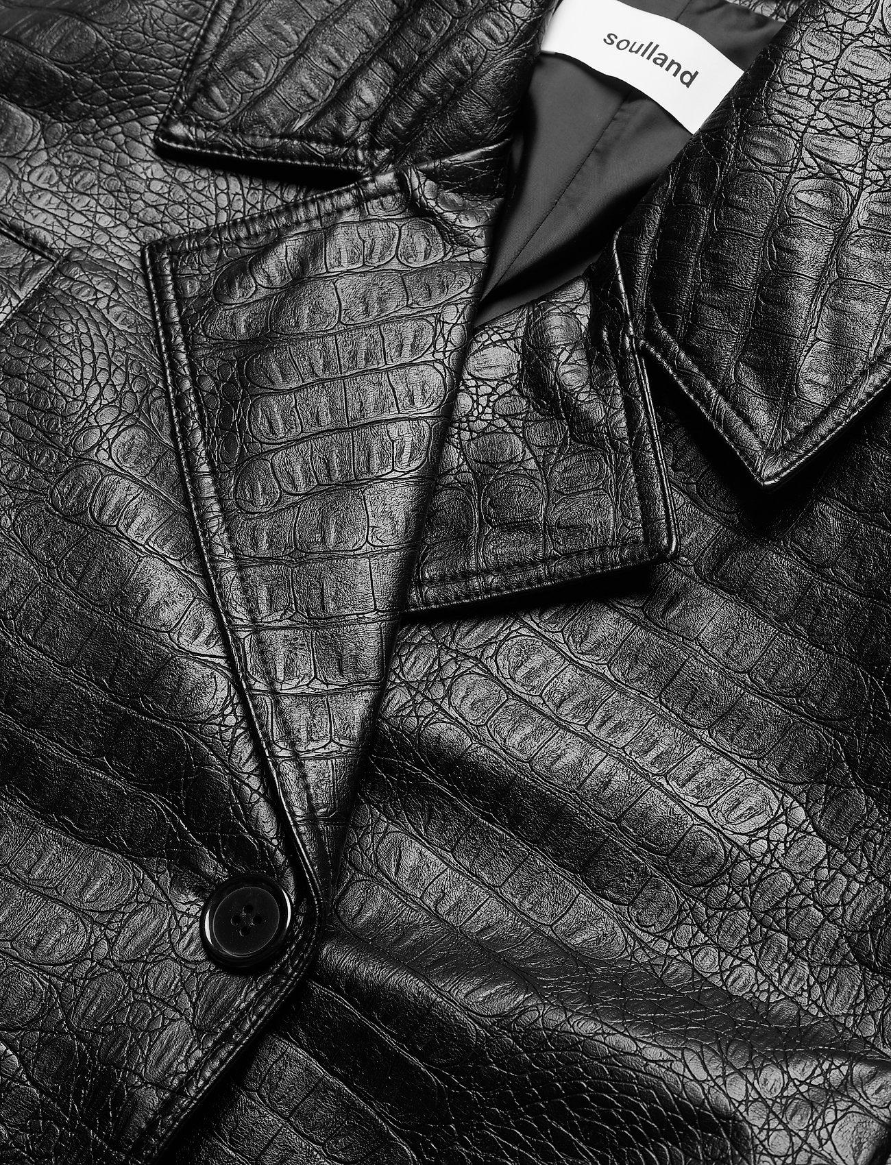 Soulland - Lena jacket - lederjacken - black - 2
