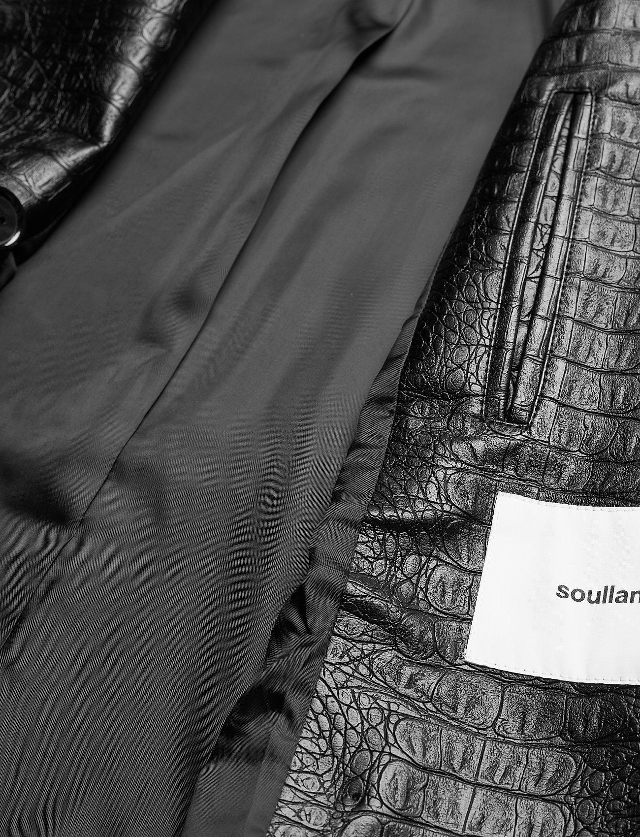 Soulland - Lena jacket - lederjacken - black - 4