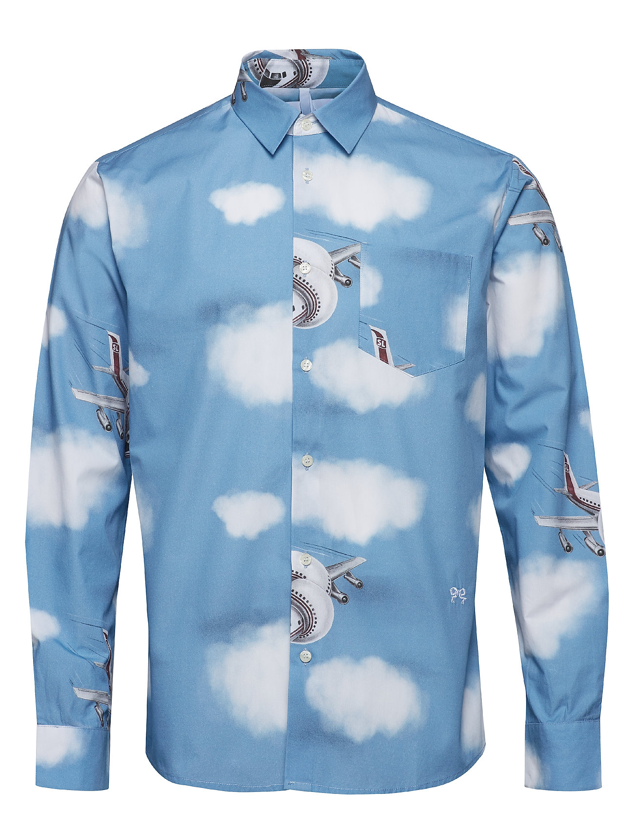 Soulland KUJAN SHIRT W. ALL OVER PRINT - BLUE - BLUE