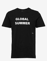 Soulland - LOGIC DRUX T-SHIRT W.PRINT - t-shirts - black - 0