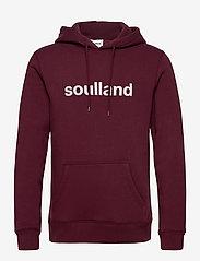 Soulland - Googie hoodie - hoodies - burgundy - 1