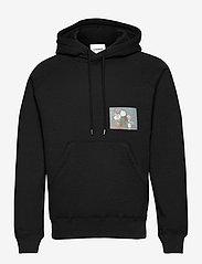 Soulland - Flower hoodie - sweats à capuche - black - 1