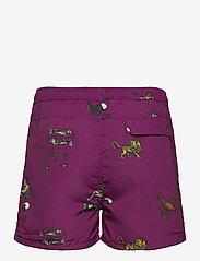 Soulland - William shorts - short décontracté - purple aop - 2