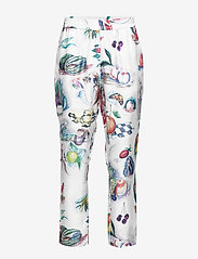 Soulland - TOAST SILK PANTS W. ALLOVER PRINT - pantalons droits - multi - 0