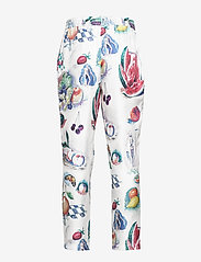 Soulland - TOAST SILK PANTS W. ALLOVER PRINT - pantalons droits - multi - 1
