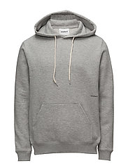 NOS WALLANCE HOODED SWEAT W. FRONT PRINT - GREY