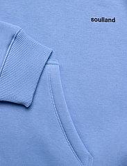 Soulland - LOGIC WALLANCE HOODED SWEAT W. FRONT PRINT - sweats basiques - blue - 4