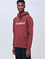 Soulland - Googie hoodie - hoodies - burgundy - 0