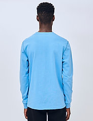 Soulland - Noah long sleeve T-shirt - t-shirts basiques - light blue - 3