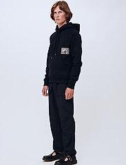 Soulland - Flower hoodie - sweats à capuche - black - 0