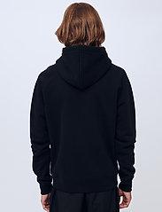 Soulland - Flower hoodie - sweats à capuche - black - 3