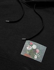 Soulland - Flower hoodie - sweats à capuche - black - 4