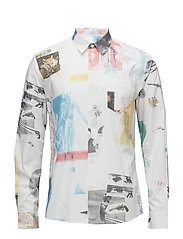 PF18 MAY TRAVIS ALL OVER PRINTED SHIRT W. LONG SLEEVES - MULTI