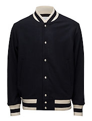 AW18 MIGGS BASEBALL JACKET W. EMBROIDERY - NAVY