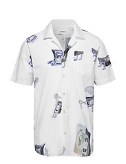 CORNWALL ALL OVER PRINTED SHORT SLEEVE SHIRT - WHITE