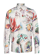 HUTTNUTT ALL OVER PRINTED SHIRT - MULTI