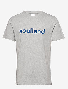 LOGIC CHUCK T-SHIRT W.PRINT - logo t-shirts - grey melange
